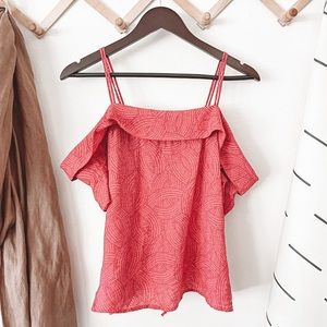 Anthro Maeve Mandalay Off The Shoulder Blouse